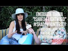 Talking to Emeraude Toubia #ShadowhuntersTV at the Freeform Launch Virtu...