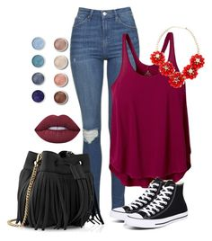 """""""Untitled #93"""" by siara2021 ❤ liked on Polyvore featuring Topshop, prAna, Whistles, Converse, Lime Crime and Terre Mère"""