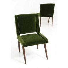 Image of Mid-Century Mohair Dining Chairs - Set of 8