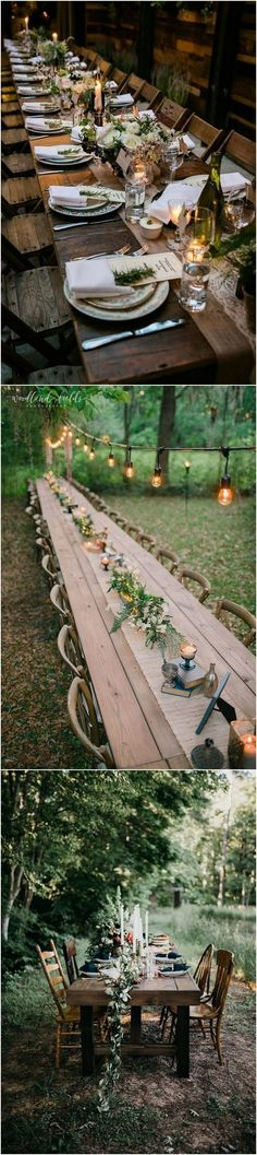 forest woodland wedding ideas - woodland forest wedding reception table ideas #weddings #wedding #weddingideas #weddingtable #woodland #forest #deerpearlflowers #dpf