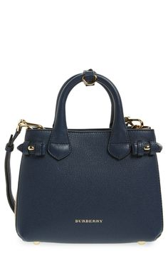 Burberry 'Mini Banner' House Check Leather Tote