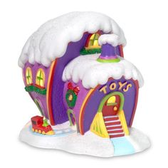 New Dept 56 Dr Seuss Grinch Who Ville Toy Store Christmas Village House Town Grinch Christmas Decorations, Whoville Christmas, Grinch Stole Christmas, Christmas Ornaments, Christmas Ideas, Peanuts Christmas, Office Christmas, Hallmark Ornaments, Christmas Store