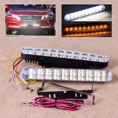 Chrome High Power  L Shape DRL LED Lights Pair For Chrysler Stratus Vision