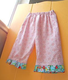 Easy Tutorial on how to sew ruffle on pants