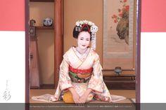 お座敷スタジオにて。おこしやす〜 #maiko #kyoto
