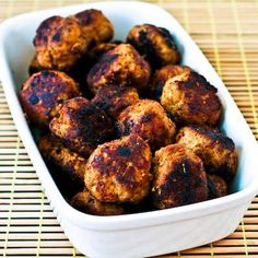 These phase one turkey meatballs use low-fat Romano Cheese instead of breadcrumbs.