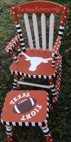 University Of Texas Rocking Chair #DIY