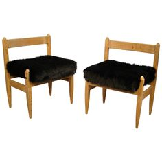Guillerme et Chambron. Pair of Oak Chairs. Votre Maison Edition, France 1960 | From a unique collection of antique and modern chairs at https://www.1stdibs.com/furniture/seating/chairs/