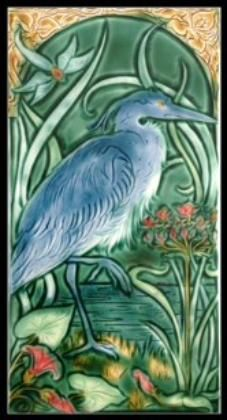 Great Blue Heron Tile $325 Verdant Tile Co. Ceramics by Mary Philpott Contemporary Art Pottery & Tile within a Historical Tradition Sculptural work exploring Flora and Fauna, with a Narrative Inspiration....