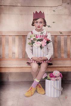 Léa P for Child Model Magazine summer 2014 by Wanda Kujzac - dress Jumina , chaussures Clotaire