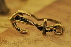 Vintage Anchor Double Finger Ring