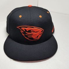3a613e095fe Nike True Dri-Fit Oregon State Beavers Black orange Beaver Snapback Hat Cap