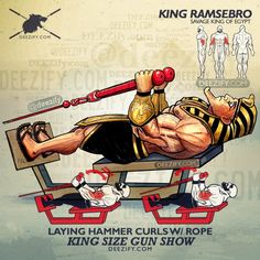 bicep exercise: ramse hammer curls rope