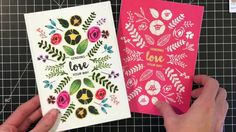 [Technique Tuesday] Pattern Stamping and Coloring Outside of the Lines with Channin - YouTube