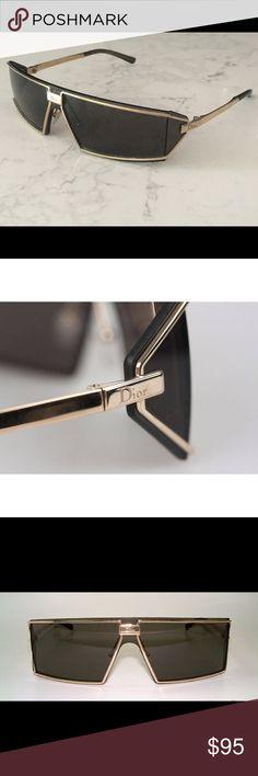 fb47f6010242 Christian Dior Troika Side Shields Sunglasses Beautiful Vintage Gold metal  Shield Mask Vintage Sunglasses by Dior