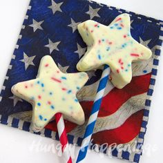 Patriotic Red, White and Blue Fudge Stars