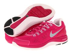 Nike Lunarglide+ 4 Fireberry/Pearl Pink/Reflective Silver - Zappos.com Free  Shipping