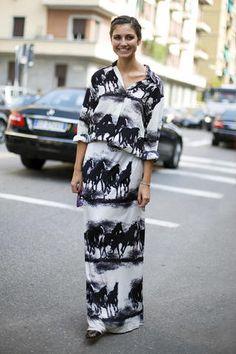 Horse print maxi dress