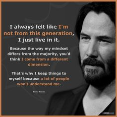 Keanu Reeves Quotes and Sayings On Life. Powerful Quotes by Keanu Reeves. Quotable Quotes, Wisdom Quotes, Quotes To Live By, Me Quotes, Motivational Quotes, Inspirational Quotes, Rocky Quotes, Leader Quotes, Inspiration Quotes