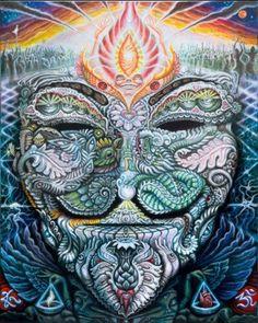 Guy Fawkes / Occupy / V For Vendetta Blotter Art print by Randal Roberts - Shop Art Pins Alex Grey, Alex Gray Art, Guy Fawkes, Art Gris, Art Visionnaire, Randal, Psy Art, Ouvrages D'art, Mystique
