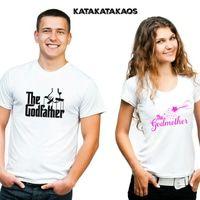 KKK012 Kaos Couple Godfather & Godmother Tshirts. #Kaos #katakatakaos #kaoscouple