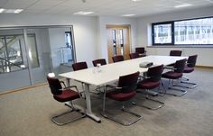 Boardroom at St Austell Printing Co new headquarters on the £6.2 million BREEAM rated Business Park. Spinriver Design ltd, Commercial  Interior Designers, Newquay Cornwall UK
