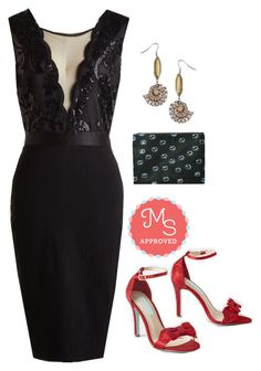 """""""Center Stage Courageous Dress"""" by modcloth ❤ liked on Polyvore featuring Betsey Johnson"""