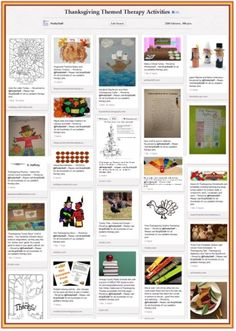 Pinterest Pinboard of the Week – Therapy Activities (and Treats) for Thanksgiving! - - Pinned by @PediaStaff – Please visit http://ht.ly/63sNt for all (hundreds of) our pediatric therapy pins
