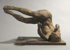 Eric Fischl: Study for Tumbling Woman Bronze, 12 x 18 x 14 inches