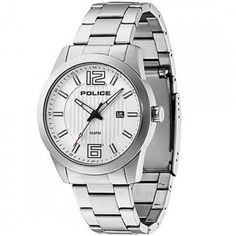 Police - Men's Stainless Steel Trophy Watch - 13406JS-04M  RRP: £115.00 Online price: £69.00 You Save: £46.00 (40%)  www.lingraywatches.co.uk Police Watches, Omega Watch, Rolex Watches, Bracelet Watch, Online Price, Stainless Steel, Manual, Hands, Men