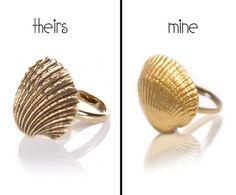 Super cute shell ring DIY