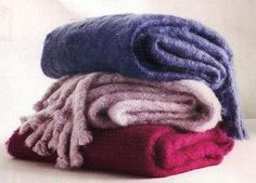 mohair blankets by Susan Chalom