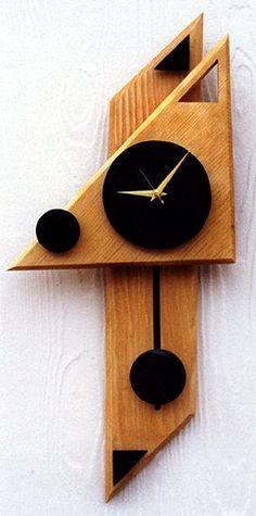 modern geometric wall clock: