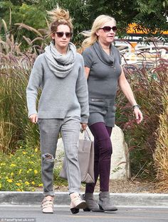 Ashley Tisdale and her mom