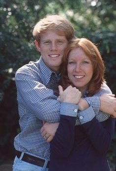 Ron Howard and Cheryl Alley, high school sweethearts, married since 1975.