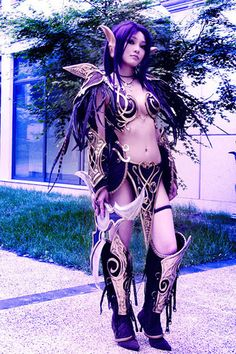 World of Warcraft - Night Elf. I have a night elf, have thought about a costume like this one