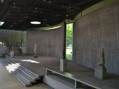 Interior of Wilhelm-Lehmbruck-Museum (1959-64) in Duisburg, Germany, by Manfred Lehmbruck