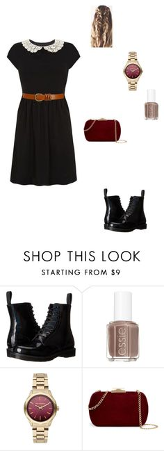 """""""double date"""" by modest-flute ❤ liked on Polyvore featuring Dr. Martens, Essie, Karl Lagerfeld, Natasha Accessories and Wet Seal"""