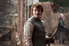 Alfie Allen as Theon Greyjoy, reluctant ward of the Starks.