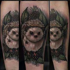 8 Adorable Hedgehog Tattoos