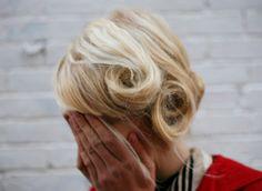 Pin curls.