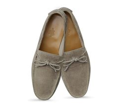 Amico Suede Moccasins Hermes men's moccasin in clay suede calfskin, hand-sewn upper, leather sole
