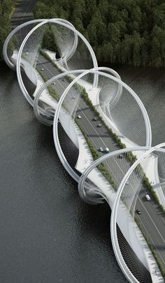 San Shan Bridge (Beijing, China) by Penda/Arup.