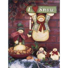 Decorative & Tole Painting : Snowy Friends Christmas Tole Painting Patterns Snowmen & Santa Claus