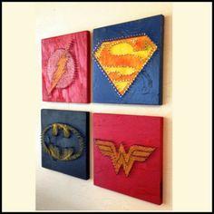 Justice League String Art