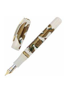 Visconti Dragon & Phoenix Maki-e Limited Edition Ivory Celluloid Fountain Pen