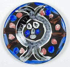 Signed Pablo Picasso Ceramic Madoura Sculpture, Face no. 30, 1963