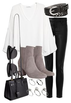 """""""Untitled #4968"""" by natalie-123s ❤ liked on Polyvore featuring J Brand, MANGO, Zimmermann, Yves Saint Laurent, INC International Concepts and ASOS"""