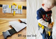 Grab your materials and let's get started on learning how to make this adorable tool belt for a little mister.