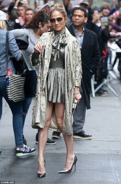 Not her best: Jennifer Lopez usually looks flawless but on Wednesday when exiting The View in NYC she was a fashion don't